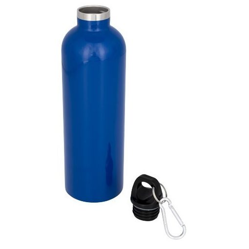 Sticla termoizolanta 530 ml, perete dublu, Everestus, AC, otel inoxidabil, albastru, saculet de calatorie inclus