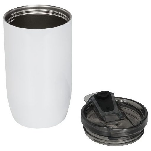Cana termoizolanta, perete dublu, 380 ml, pentru voiaj, Everestus, LM, otel inoxidabil, alb, saculet de calatorie inclus