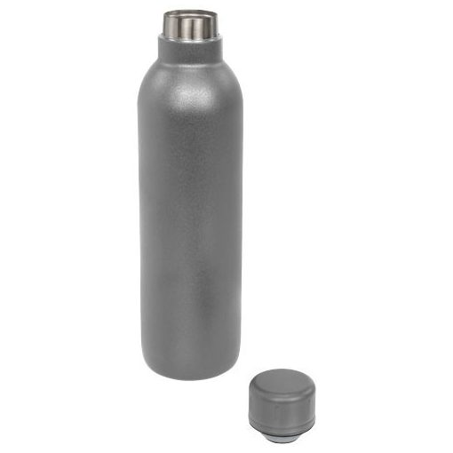 Sticla termoizolanta 510 ml, perete dublu, fara condens, Everestus, TR, otel inoxidabil, gri, saculet de calatorie inclus