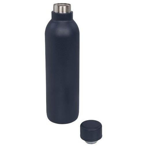 Sticla termoizolanta 510 ml, perete dublu, fara condens, Everestus, TR, otel inoxidabil, albastru, saculet de calatorie inclus