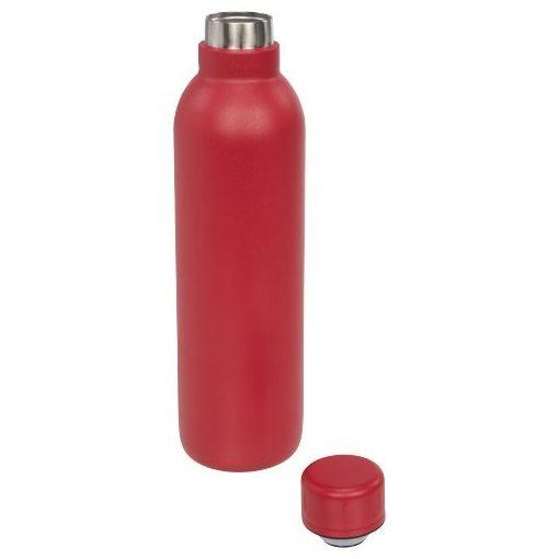 Sticla termoizolanta 510 ml, perete dublu, fara condens, Everestus, TR, otel inoxidabil, rosu, saculet de calatorie inclus