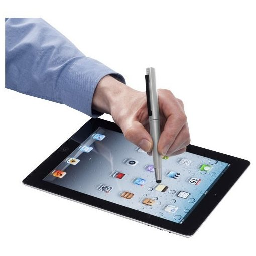 Pix stylus si memorie usb 4GB, Everestus, NU, abs plastic, argintiu, 4GB, lupa de citit inclusa