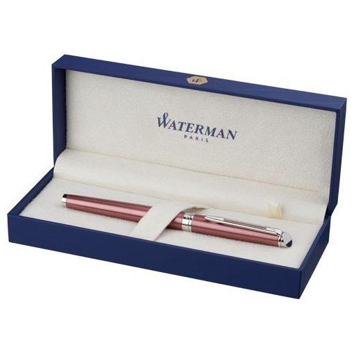 Stilou elegant Waterman Hémisphère, metal, roz, breloc inclus din piele ecologica si metal