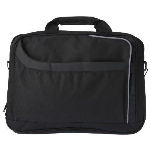 Geanta Laptop, Everestus, AM, 15.4 inch, 600D poliester si pvc, negru, saculet de calatorie si eticheta bagaj incluse