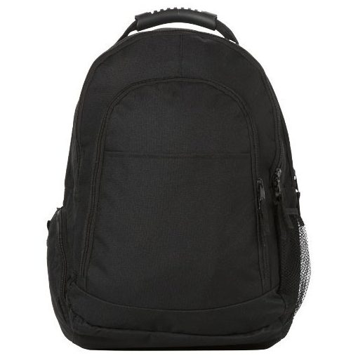 Rucsac Laptop, Everestus, JY, 15.4 inch, 600D poliester, negru, saculet de calatorie si eticheta bagaj incluse