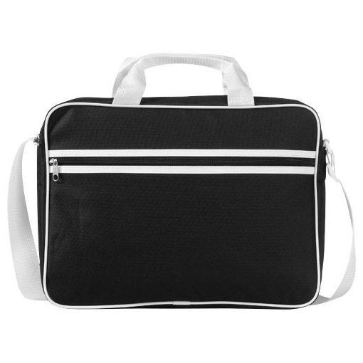 Geanta de conferinte si Laptop, Everestus, KE, 15.6 inch, 600D poliester, negru, alb, saculet si eticheta bagaj incluse