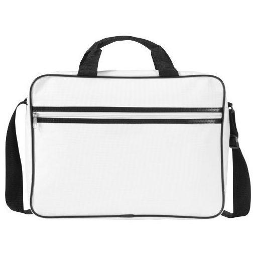 Geanta de conferinte si Laptop, Everestus, KE, 15.6 inch, 600D poliester, alb, saculet de calatorie si eticheta bagaj incluse