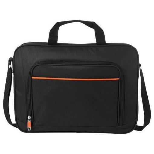 Geanta de conferinte si Laptop, Everestus, HM, 14 inch, 600D poliester, negru, portocaliu, saculet si eticheta bagaj incluse