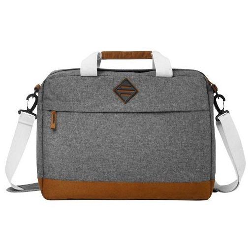 Geanta de conferinte Laptop/Tableta, Everestus, EO, 15.6 inch, 300D poliester, gri, saculet si eticheta bagaj incluse