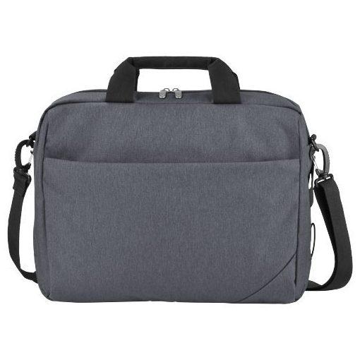 Geanta de conferinte/Laptop 14 inch, Everestus, NR, 600D poliester de mare densitate, gri, saculet si eticheta bagaj incluse