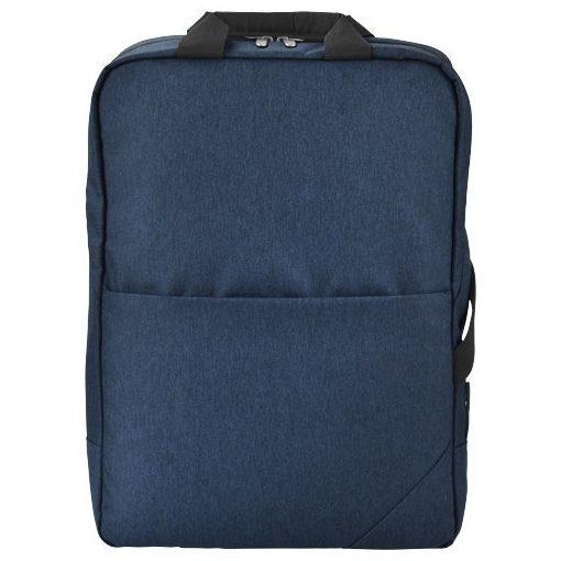Rucsac Laptop, Everestus, NR, 15.6 inch, de mare densitate 600D poliester, albastru, negru, saculet si eticheta bagaj incluse