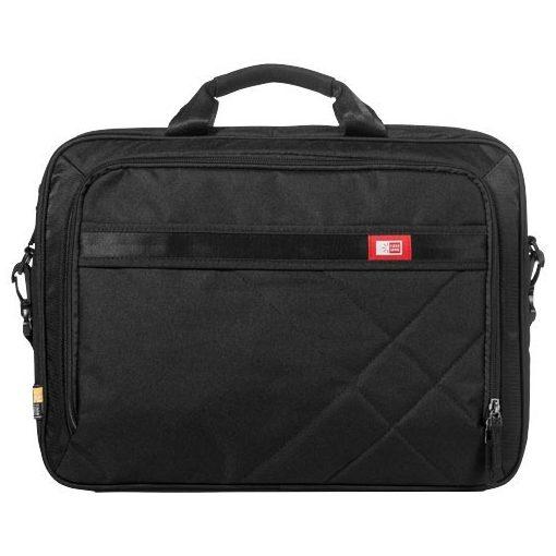 Geanta Laptop/Tableta, Case Logic by AleXer, QN, 17 inch, 600D poliester, negru, breloc inclus din piele ecologica si metal