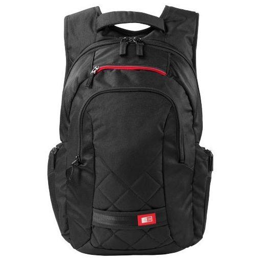 Rucsac Laptop, Case Logic by AleXer, FN, 16 inch, 600D poliester, negru, breloc inclus din piele ecologica si metal