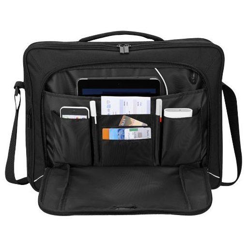 Servieta Laptop tech, Everestus, SH, 15.6 inch, 600D poliester, negru, saculet de calatorie si eticheta bagaj incluse