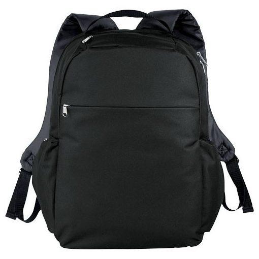 Rucsac Laptop, Everestus, SM, 15.6 inch, 600D poliester, negru, saculet de calatorie si eticheta bagaj incluse