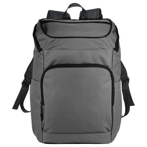Rucsac Laptop, Everestus, MR, 15.6 inch, Ripstop 600D poliester, gri, saculet de calatorie si eticheta bagaj incluse