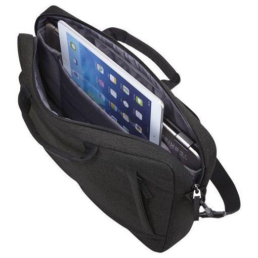 Servieta Laptop/Tableta, Case Logic by AleXer, HN, 15.6 inch, poliester, negru, breloc inclus din piele ecologica si metal