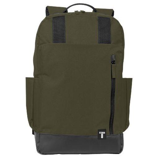Rucsac Laptop, Everestus, CU, 15.6 inch, 300D poliester cu tarpaulin, masliniu, saculet de calatorie si eticheta bagaj incluse