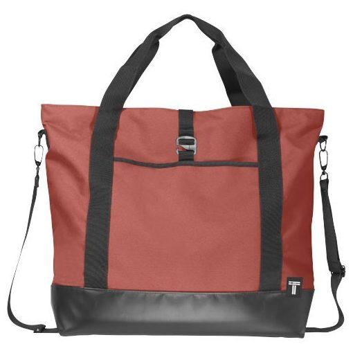 Geanta tote Laptop, Everestus, WR, 15 inch, 300D poliester cu tarpaulin, rosu, saculet de calatorie si eticheta bagaj incluse