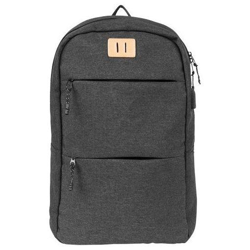 Rucsac Laptop, Everestus, CN, 15 inch, 600D poliester material calduros, gri, saculet de calatorie si eticheta bagaj incluse