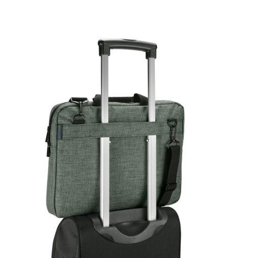 Geanta Laptop 14 inch, Everestus, SS, 600D densitate mare, gri inchis, saculet de calatorie si eticheta bagaj incluse