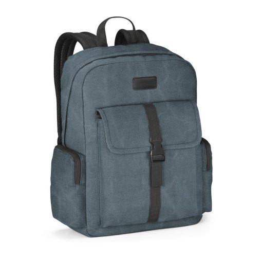 Rucsac Laptop 15.6 inch, Everestus, AE, panza bumbac prespalat, albastru, saculet de calatorie si eticheta bagaj incluse