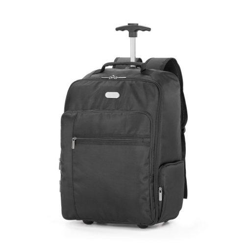 Rucsac troler Laptop 17 inch, Everestus, AR, 1680D si 300D, negru, saculet de calatorie si eticheta bagaj incluse