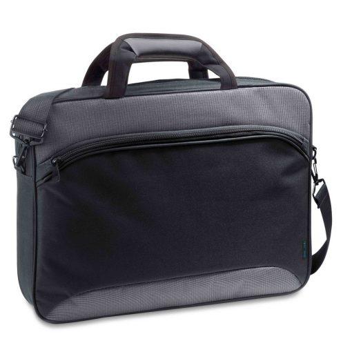 Geanta Laptop 15.6 inch, Everestus, SA, 600D2Tone si 300D, gri, saculet de calatorie si eticheta bagaj incluse