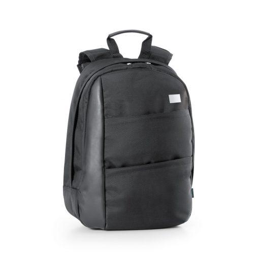 Rucsac Laptop 15.6 inch, Everestus, AE, piele ecologica si 1680D, negru, saculet de calatorie si eticheta bagaj incluse