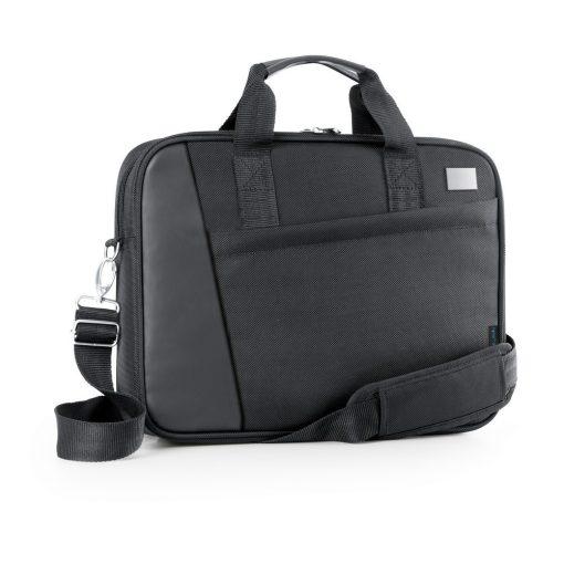 Geanta Laptop 15.6 inch, Everestus, AE, piele ecologica si 1680D, negru, saculet de calatorie si eticheta bagaj incluse