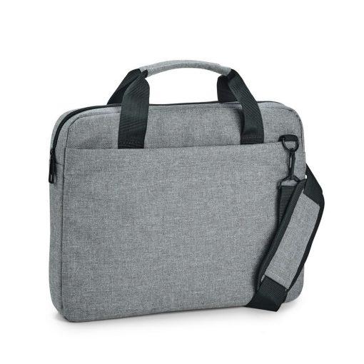 Geanta Laptop 14 inch, Everestus, NB, 600D densitate mare, gri deschis, saculet de calatorie si eticheta bagaj incluse