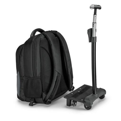 Rucsac troler pentru Laptop 17 inch, Everestus, NB, Nylon 999, gri, saculet de calatorie si eticheta bagaj incluse
