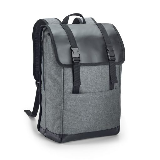Rucsac Laptop 17 inch, Everestus, TR, 600D densitate mare si tarpaulin, gri inchis, saculet si eticheta bagaj incluse