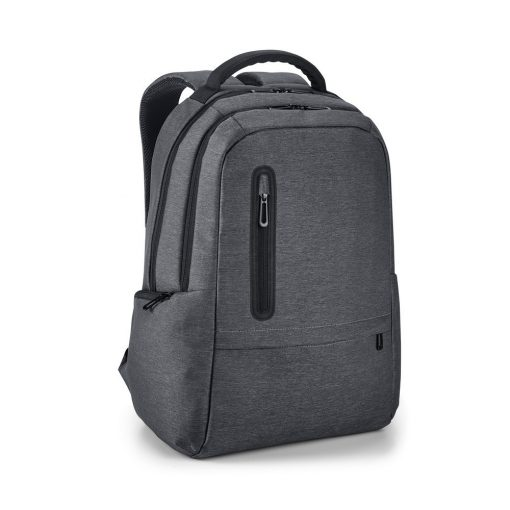 Rucsac Laptop 17 inch, Everestus, NB, Nylon 2Tone rezistent la apa, antracit, saculet de calatorie si eticheta bagaj incluse