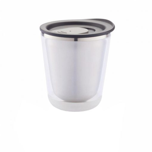Cana cafea 227 ml, XD by AleXer, DA, otel inoxidabil, as, negru, breloc inclus din piele ecologica si metal
