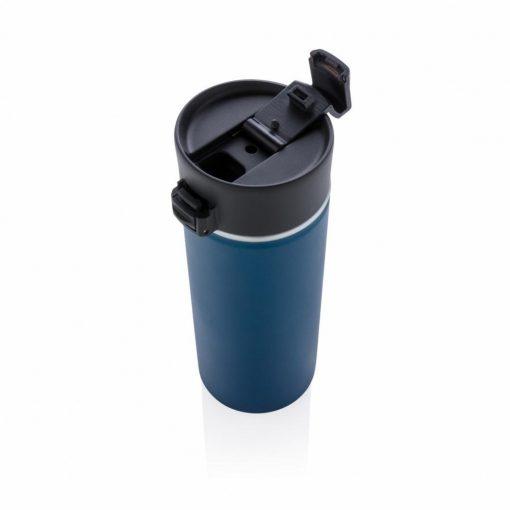 Cana termoizolanta 500 ml, fara scurgeri, cu invelis ceramic, XD by AleXer, BA, otel inoxidabil, pp, albastru, breloc inclus