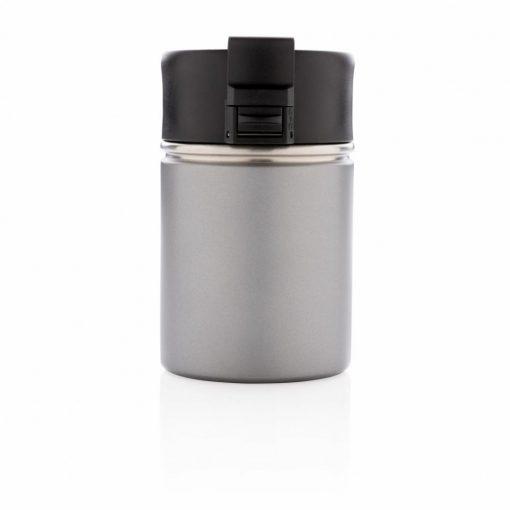 Cana termoizolanta 220 ml, fara scurgeri, cu invelis ceramic, XD by AleXer, BA, otel inoxidabil, pp, gri, breloc inclus