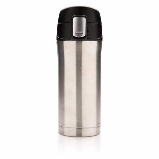 Cana termoizolanta 300 ml, Everestus, EY, otel inoxidabil, pp, argintiu, saculet de calatorie inclus