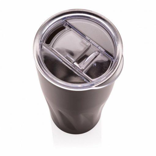 Cana termoizolanta 500 ml, perete dublu fara condens, Everestus, BM, otel inoxidabil, as, negru, saculet de calatorie inclus