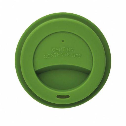 Cana de cafea 350 ml, ecologica, Everestus, EA, pla, silicon, verde, saculet de calatorie inclus