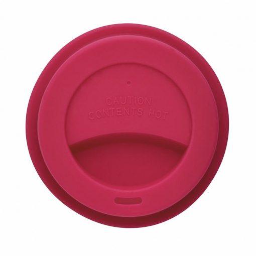Cana de cafea 350 ml, ecologica, Everestus, EA, pla, silicon, roz, saculet de calatorie inclus