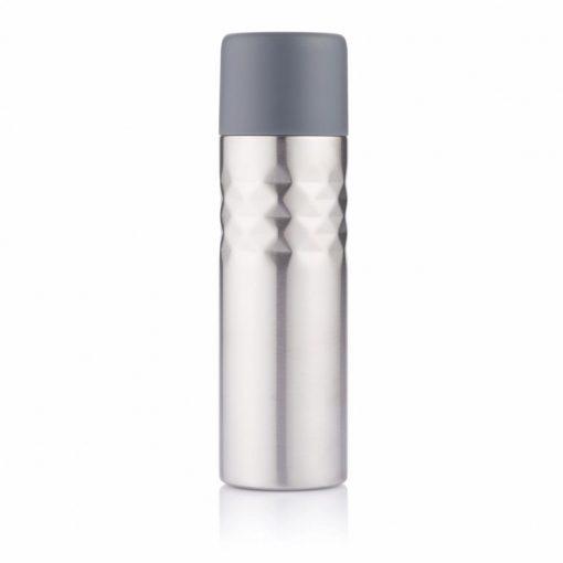Termos 500 ml, perete dublu, XD by AleXer, MS, otel inoxidabil, pp, antracit, breloc inclus din piele ecologica si metal