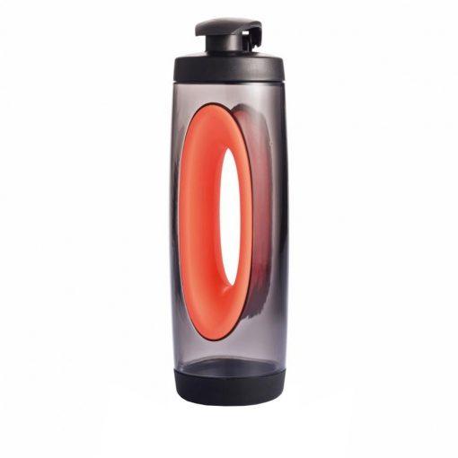 Sticla sport 550 ml, XD by AleXer, BP, tritan, pp, rosu, breloc inclus din piele ecologica si metal