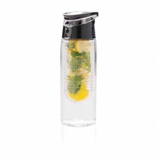 Sticla de apa 700 ml cu infuzor, Everestus, LE, tritan, abs, transparent, saculet de calatorie inclus