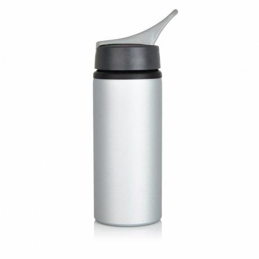 Sticla sport 600 ml rezistenta, bpa free, Everestus, AM, aluminiu, pp, gri, saculet de calatorie inclus
