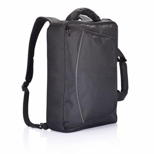 Geanta Laptop 15.6 inch, pvc free, Everestus, FD, poliester 600D, negru, saculet de calatorie si eticheta bagaj incluse