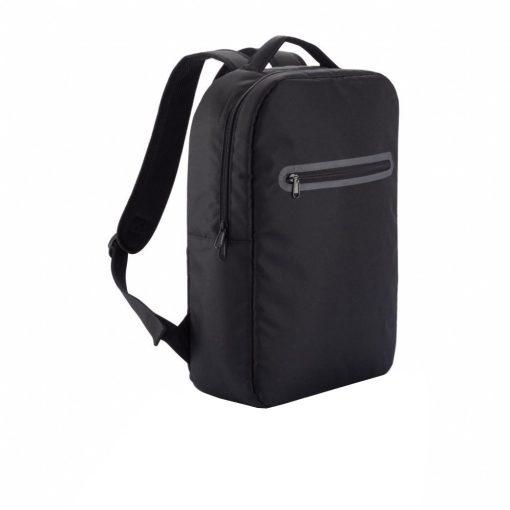 Rucsac Laptop cu compartiment aditional pentru tableta, pvc free, Everestus, LD, poliester 300D, negru, sac si eticheta incluse