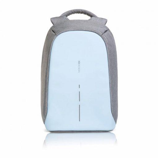 Rucsac antifurt, laptop 14 inch, buzunare ascunse pe exterior, XD by AleXer, BY, poliester, pu, albastru deschis, breloc inclus