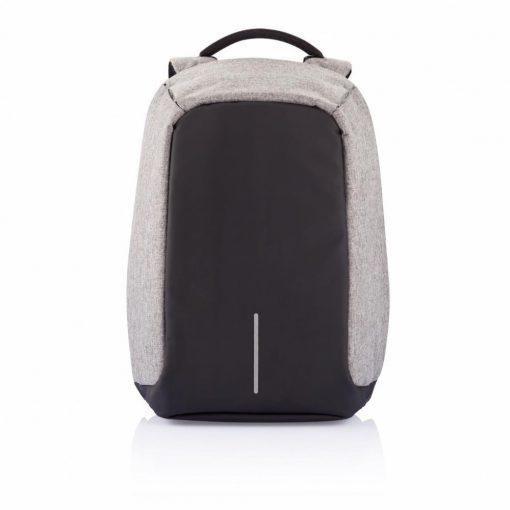 Rucsac antifurt, laptop 17 inch, buzunare ascunse pe exterior, XD by AleXer, BY, poliester, pvc, gri, breloc inclus