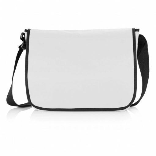 Geanta de umar pentru documente, compartiment laptop 15.6 inch, Everestus, SR, poliester, gri, saculet si eticheta bagaj incluse